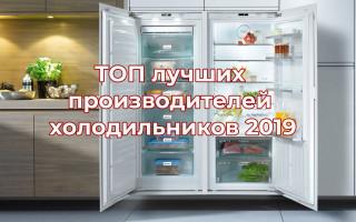 ТОП лучших производителей холодильников 2019 (декабрь)