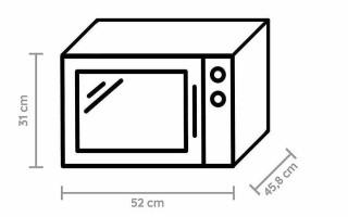 Каких размеров бывают микроволновые печи?