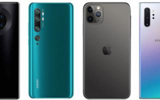 ТОП-10 лучших камер смартфонов DXOMARK