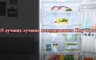 15 лучших холодильников Ноу Фрост