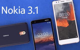 Nokia 3.1 — цена и характеристики