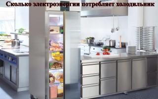 Сколько электроэнергии потребляет холодильник?