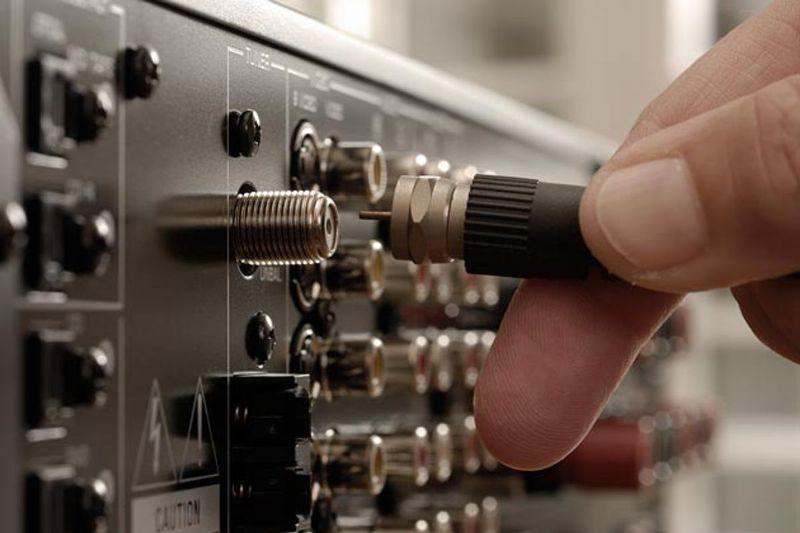 Подключение антенны к телевизору