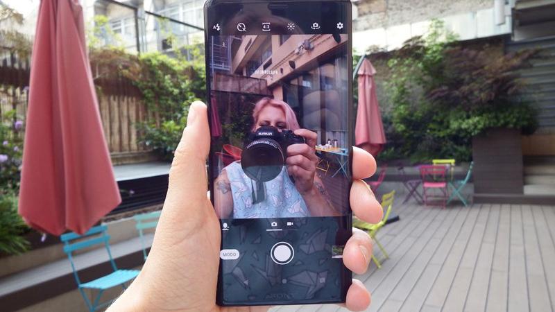 Sony Xperia xz3 пример фото селфи