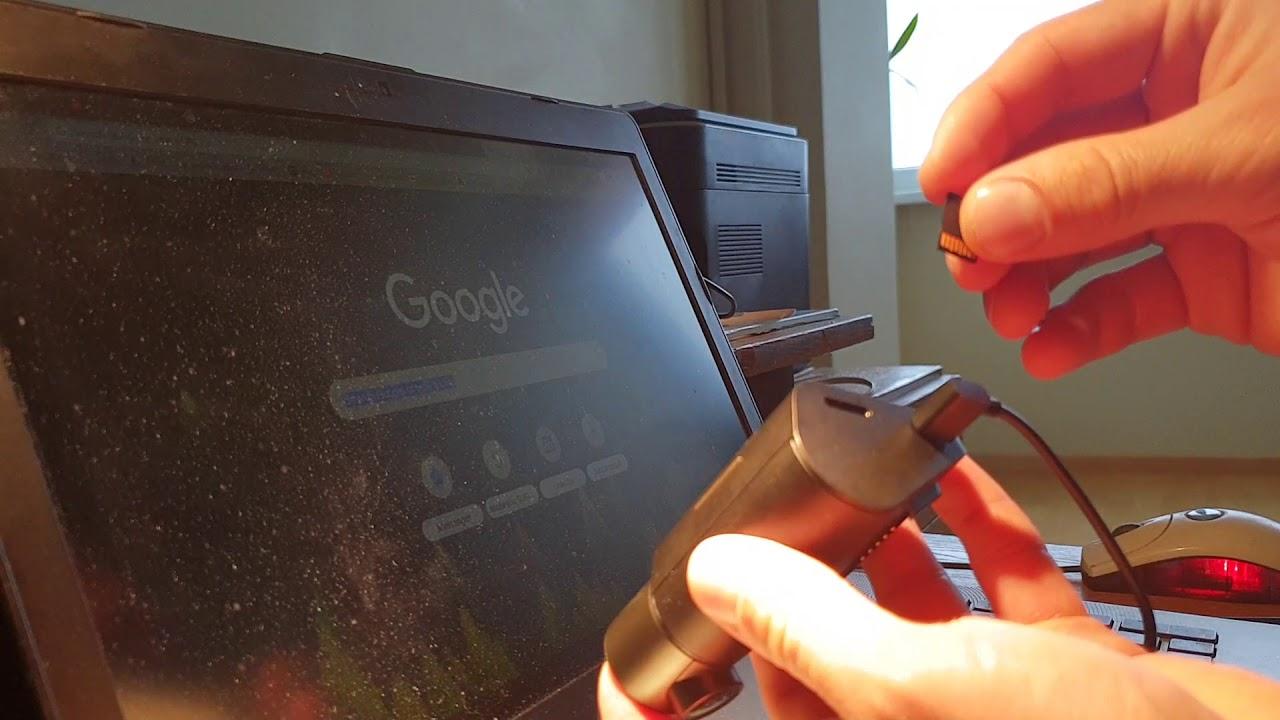 Вставить micro SD карту в слот