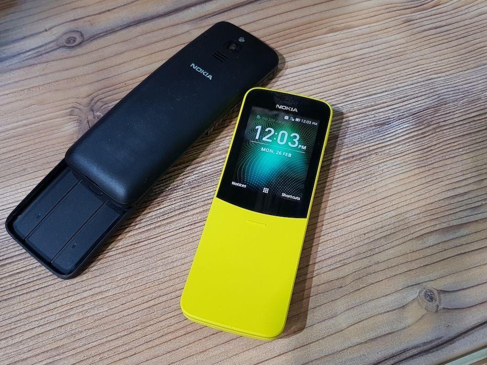 Nokia 8110 4G в закрытом виде