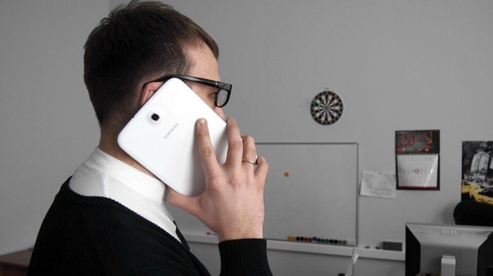 звонок с планшета