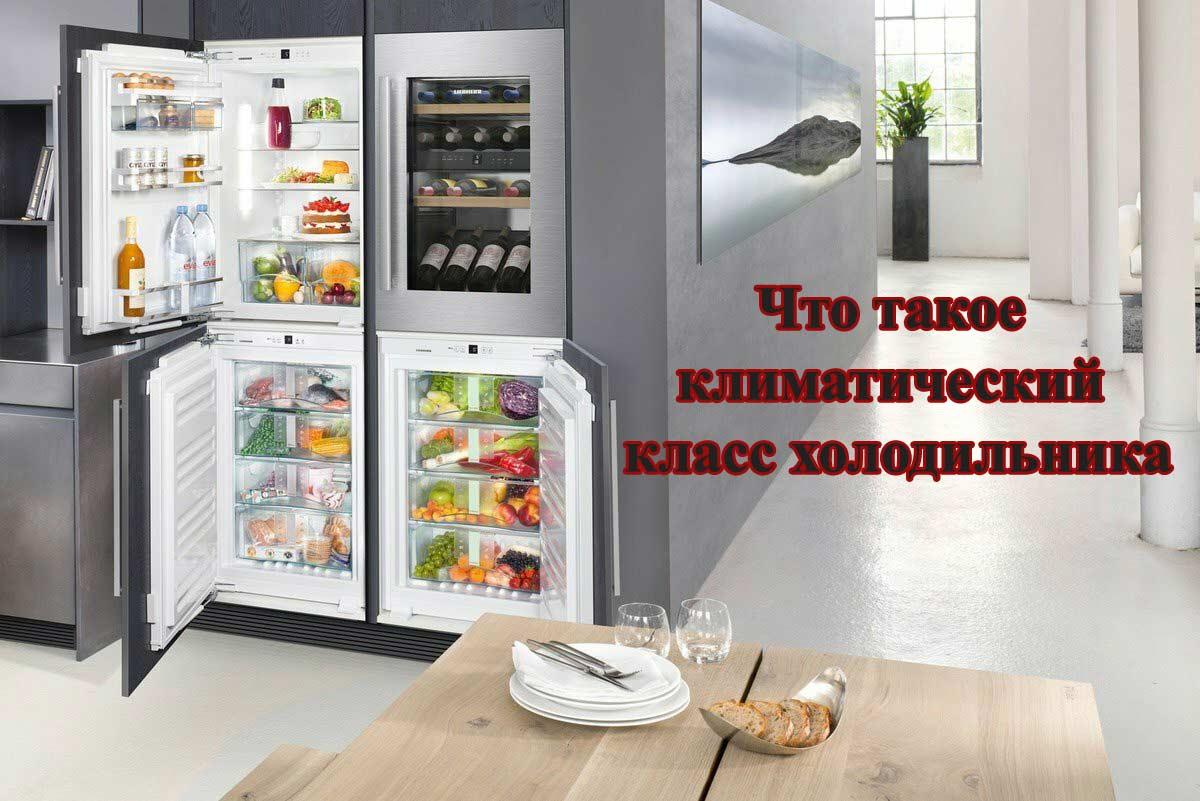 Какие бывают климатические классы холодильников