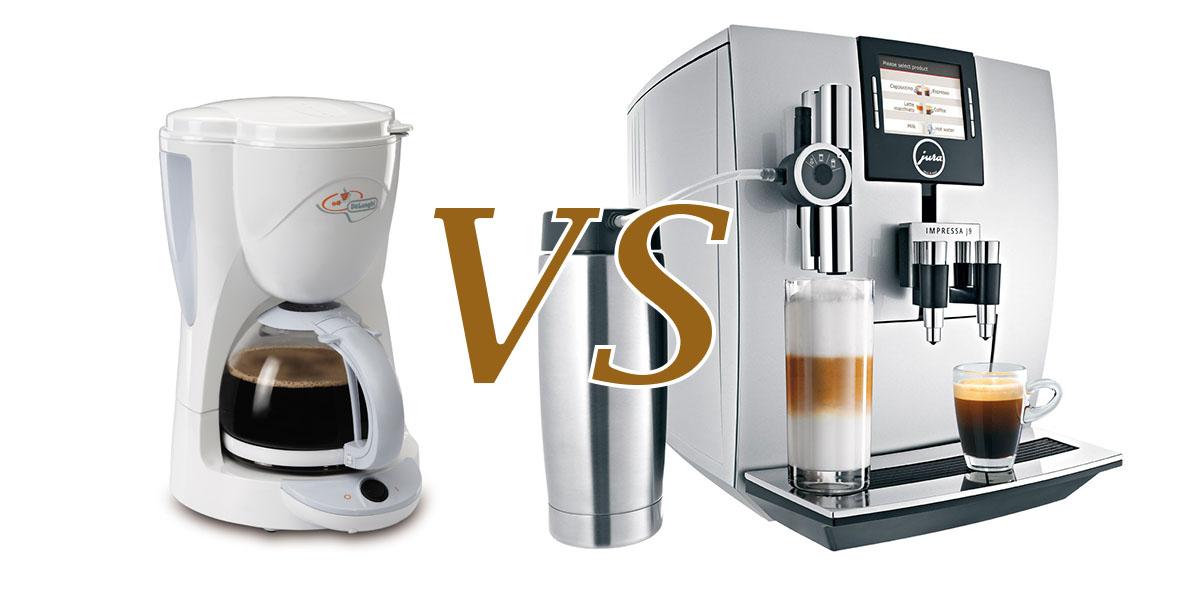 Чем отличается кофеварка от кофемашины?