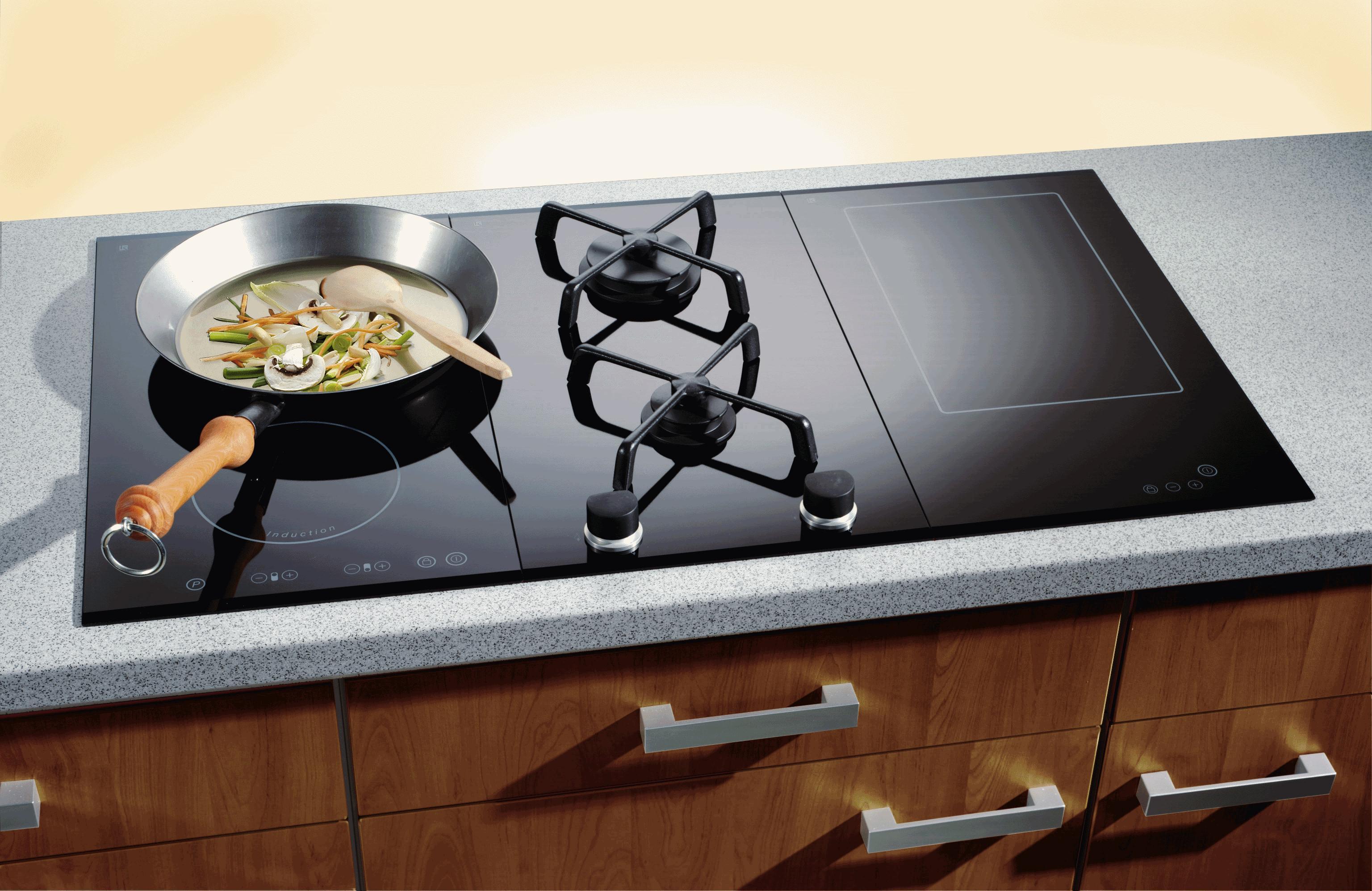 комбинированная индукционная плита