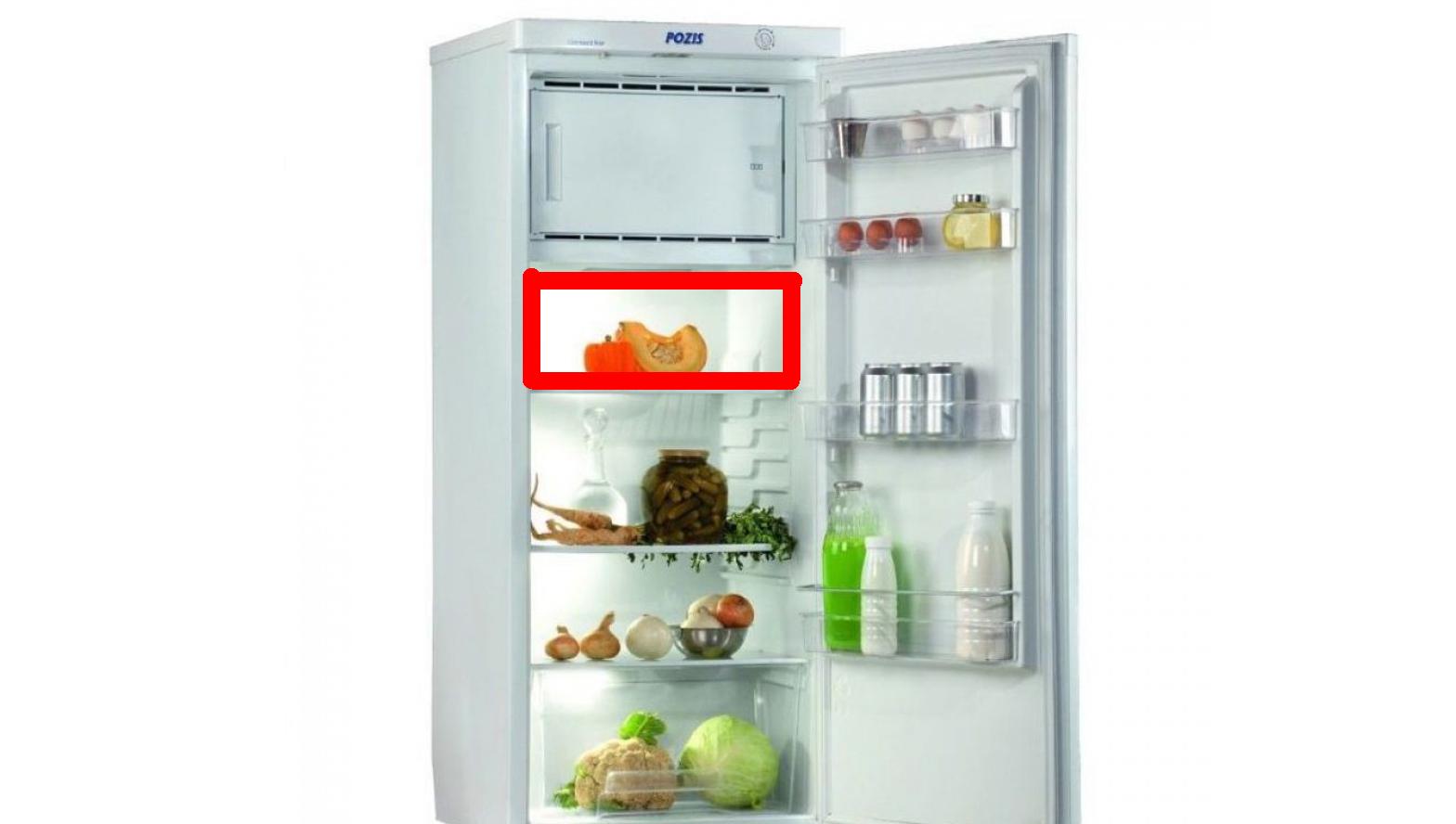 На какой полке холоднее в однокамерном холодильнике