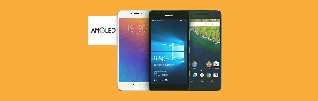 Смартфоны с дисплеем AMOLED